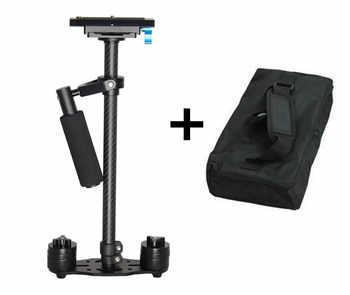 Nueva cámara de vídeo estabilizadora steadicam de fibra de carbono s60t para canon 5d ii dslr estabilizador cámara de vídeo compacta