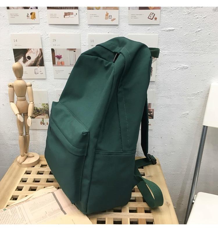 HTB1A0TQXy 1gK0jSZFqq6ApaXXa3 2019 Backpack Women Backpack Solid Color Women Shoulder Bag Fashion School Bag For Teenage Girl Children Backpacks Travel Bag