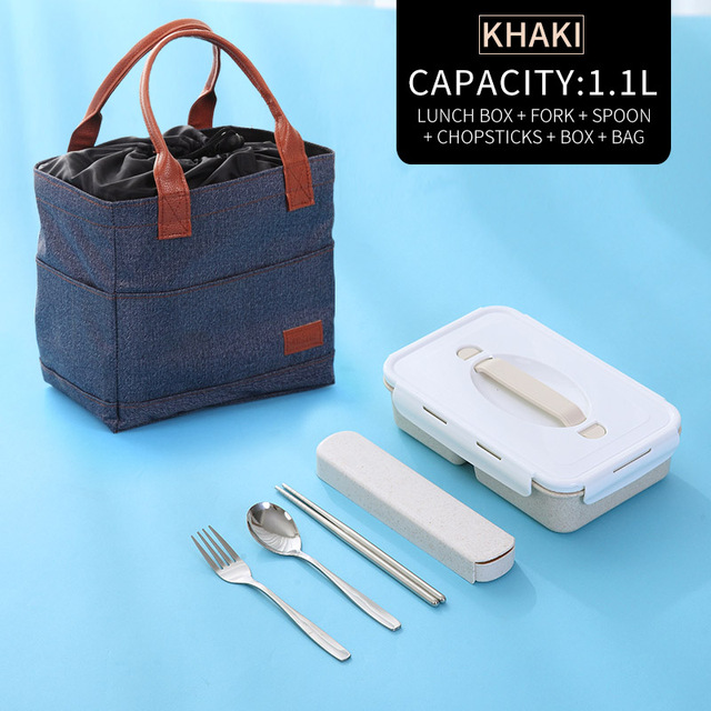 Khaki Bag Tableware Cheap bento boxes silicone collapsible 5c6479e2ed796