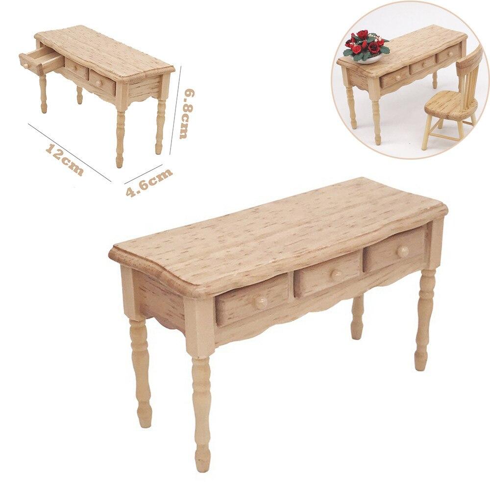 Mini Dollhouse Furniture Desk Miniature Living Room Kids Pretend Play Toy 4.7in Developmental Toy Hot New W516