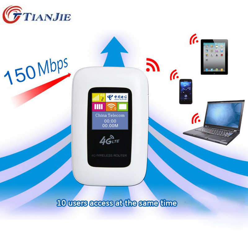 Travel Partner 100M Mobile Hotspot Pocket Portable Wireless Unlock Mini Wi-Fi MiFi LTE Modem WiFi 4G Router with SIM Card Slot 2pcs 1 4 inch 4g lte wireless router tft network router 4g wi fi router roteador lte mobile modem hotspot wifi unlocked lte band