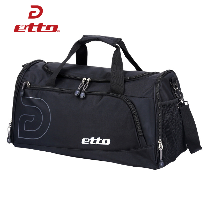 Etto 37L Sports Gym Bag Men Women Independent Shoes Storage Totes Soccer Training Handbag Waterproof Outdoor Shoulder Bag HAB012 tiebao soccer sport shoes football training shoes slip resistant broken nail professional sports soccer shoes