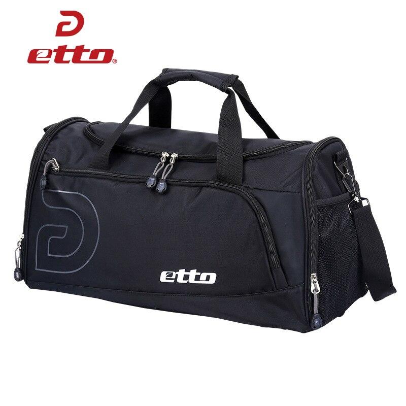 Etto 37L Sports Gym Bag Men Women Independent Shoes Storage Totes Soccer Training Handbag Waterproof Outdoor Shoulder Bag HAB012