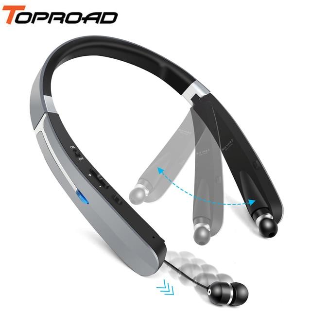 66d99b781e8 TOPROAD Outdoor Sports Bluetooth Headset Foldable Headphone CSR8635 Wireless  Earphones Support Handsfree Retractable Earbuds