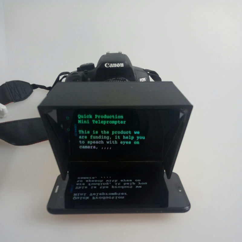 Image 2 - Upgrade Mini teleprompter  portable inscriber mobile teleprompter artifact video with remote control-in Integrated Circuits from Electronic Components & Supplies