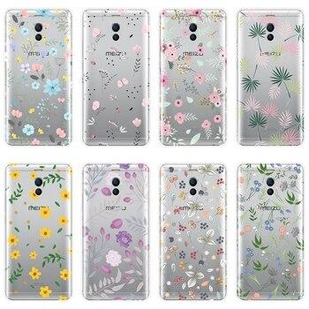 Para Meizu M2 M3 M5 M6 caso suave de silicona de flor Rosa funda trasera Floral para Meizu M2 M3 M3S M5 M5C M5S M6 M6S M6T teléfono caso