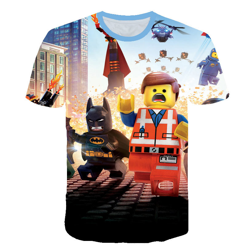 3D Print Men Women Anime Youth Streetwear T Shirt Harajuku KIDS Toy Brick Baby Tshirt Boy Short Sleeve Skateboard T-shirt