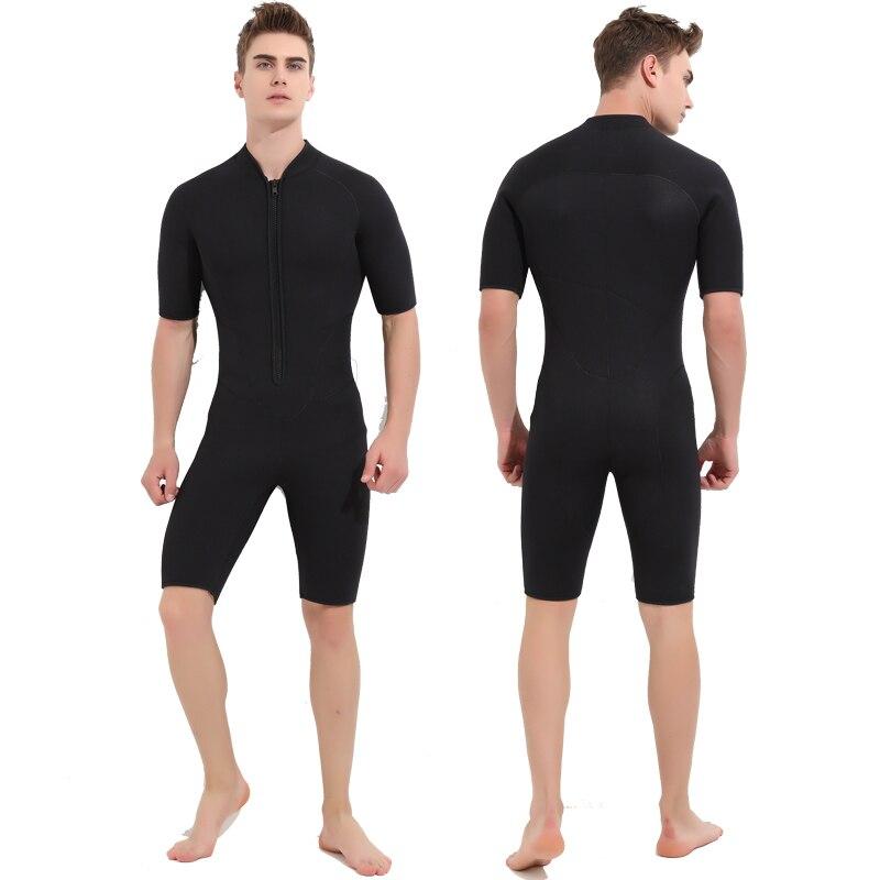 SBART 3 MM néoprène combinaisons hommes pour natation plongée sous-marine Surf Mergulho équipement une pièce manches courtes combinaison humide Triathlon N - 5