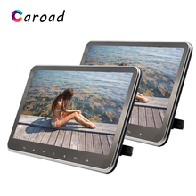 Caroad MP5 Player 10.2 Inch HD 1080P Ultra Slim Touch Button Built-in USB/SD/HDMI/FM Transmitter/Speaker Car Headrest Monitor