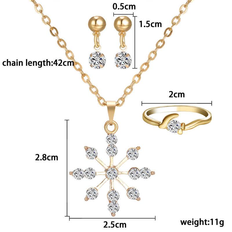 Simples chinês pingente colar brinco anel feminino conjunto de jóias noiva festa de casamento conjuntos de jóias traje de ouro