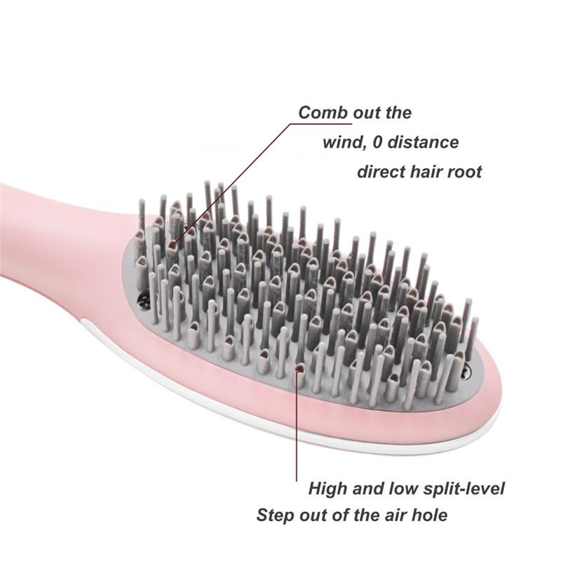 ФОТО 2017 New Low-flow Brush Dryer Comb Hair Styler Ceramic Styling Tools 220V Can Dry Hair Moisturizing Health Static Supple Hair