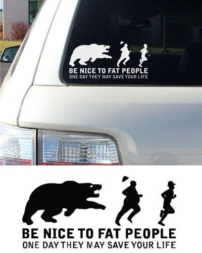 Funny car sticker design rear windshield window decor decals