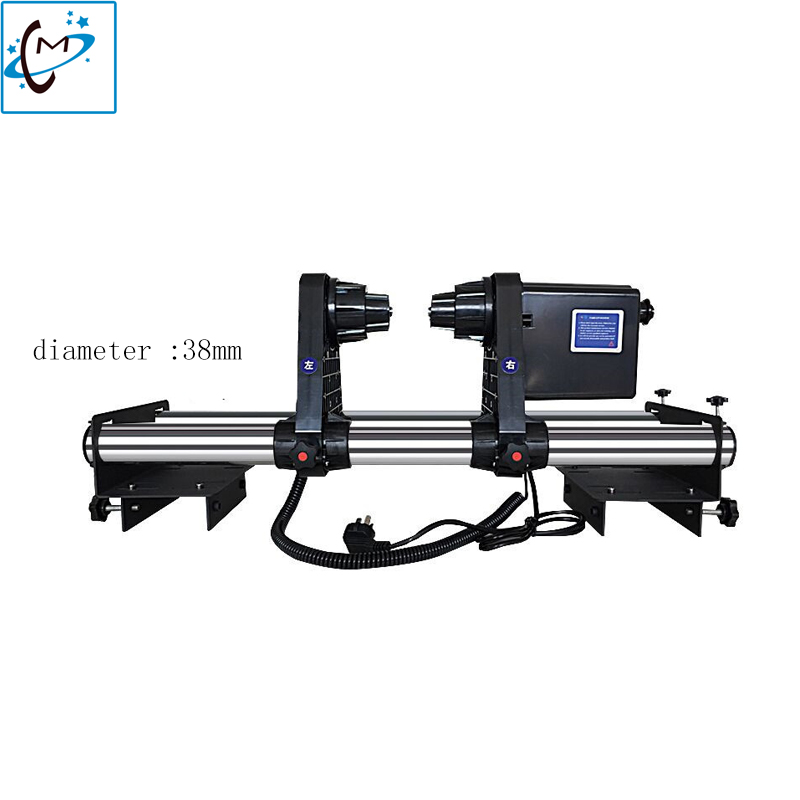 Mutoh printer take up system Roland Auto Take up Reel System for Mutoh VJ1614 VJ1604 VJ1618 VJ2628 printer Paper Collector hot sale diameter hole 50mm mutoh 1604 paper feeding system spare part roland mimaki auto feeding system holder