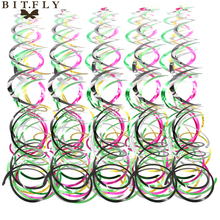 BITFLY 5pcs/pack Ceiling Hanging Swirl Decoration Metallic Foil For Wedding Christmas Birthday Party Decor Baby Shower Boy girl