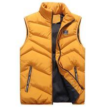 Vest Men Thick Waistcoat Windbreak Casual Style Quality Solid Slim Fit 2019 Autumn Winter Sleeveless Jacket Brand Clothing M-4XL
