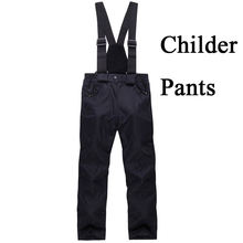 Gilr/Boy Children Snow Trousers Skiing Clothiing outdoor Sports ski snowboard Costume thermal Winter snow Ski pant Black/Red