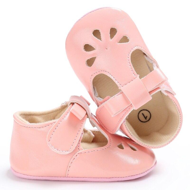 יילוד תינוקות פעוט תינוק נעלי ילדה מרי ג 'יין חלול נסיכת רך בלעדי לא להחליק עור מפוצל הראשונה ווקר Prewalkers