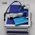 TDOU Portátil Binocular Dental Lupas 3.5X420mm + LED Head Light Lamp + Caixa De Alumínio (Azul) frete Grátis