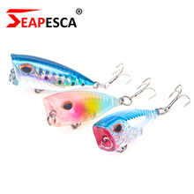 Купить с кэшбэком SEAPESCA Popper Fishing Lure 35mm 3.2g Artificial Professional Fishing Hard Bait 3D Eye Wobblers Luminous Bass Pike Tackle YA117