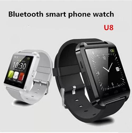 imágenes para NUEVA Smartwatch U8 reloj Inteligente Bluetooth para Samsung HTC Huawei LG Xiaomi Android Teléfono s5 s6 u80 Altitud Se Reunió