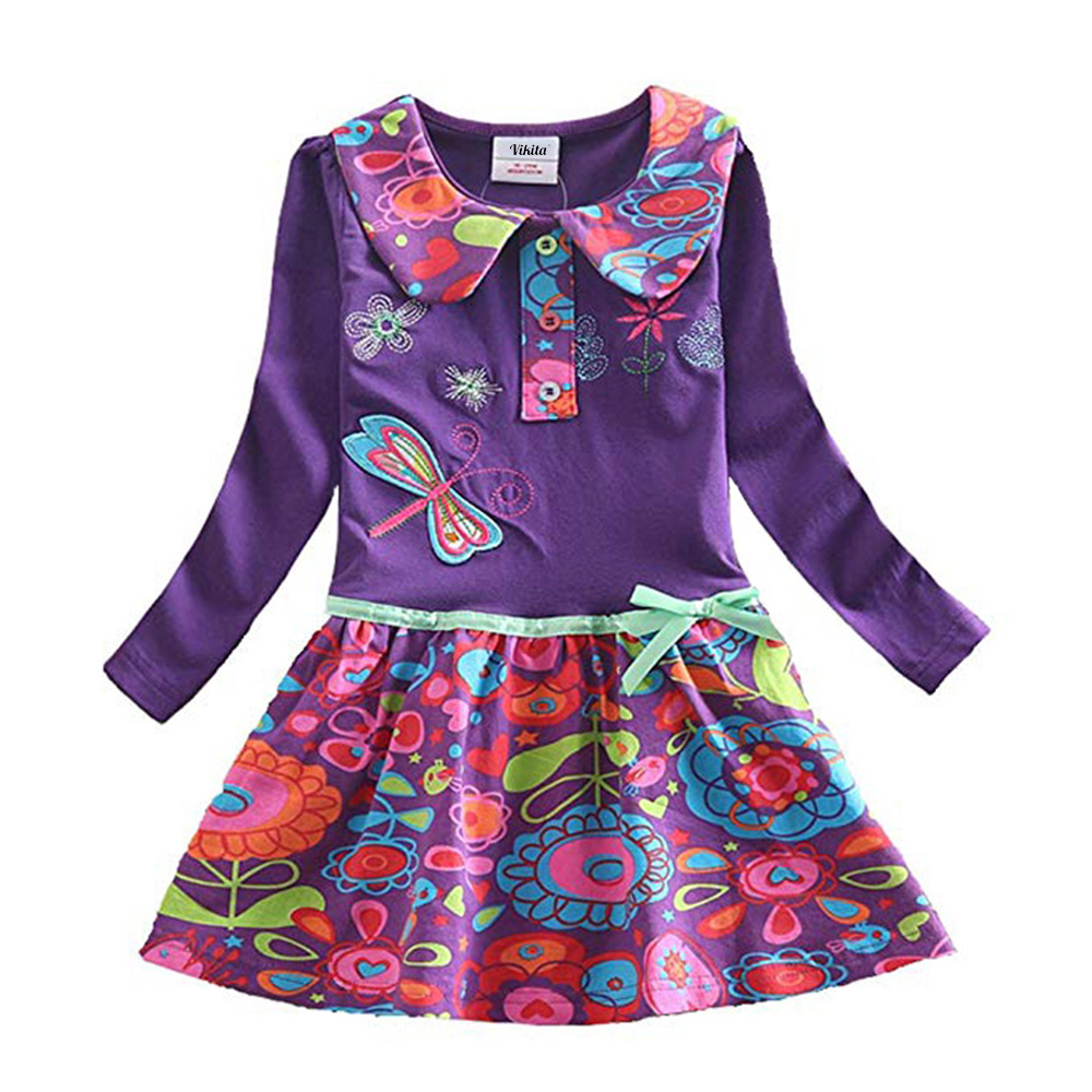 HTB1A0VpQzTpK1RjSZKPq6y3UpXas VIKITA Girls Dress Long Sleeve Kids Flower Dresses Children Unicorn Vestidos 2019 Girls Dresses Autumn Kids Dress For Girl