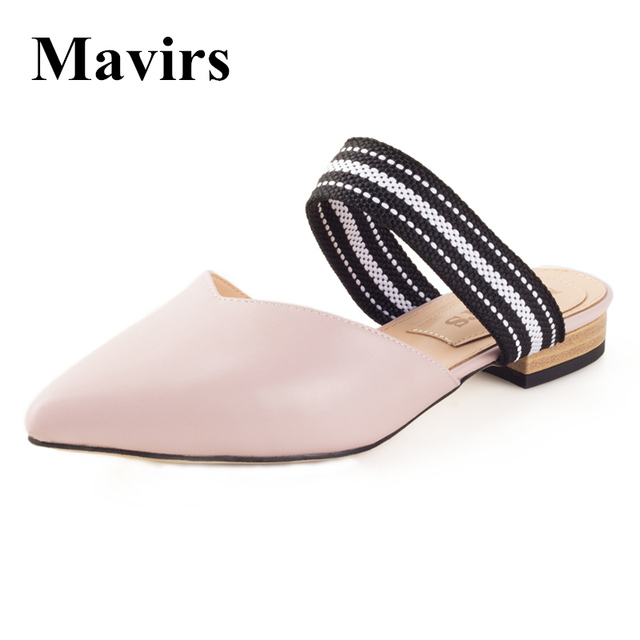 2018 Fashion Women Real Fur Shoes Genuine Leather Womens Slipper Flats Female Casual Slip On Loafer Flats For Women Cozy Shoes,size33-42