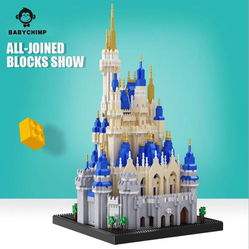 5500 pièces éclairer les blocs de construction ensembles Royal grand château assemblée Architecture modèle jouets éducatifs pour enfants cadeau-in Blocs from Jeux et loisirs    2
