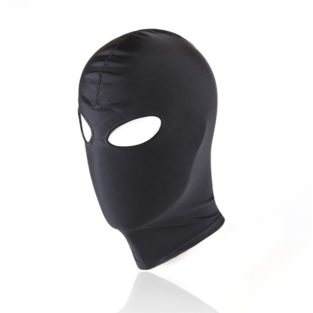 Sexy high elastic Latex Hood Black Mask 4 tyles Breathable Headpiece Fetish BDSM Adult for party 1