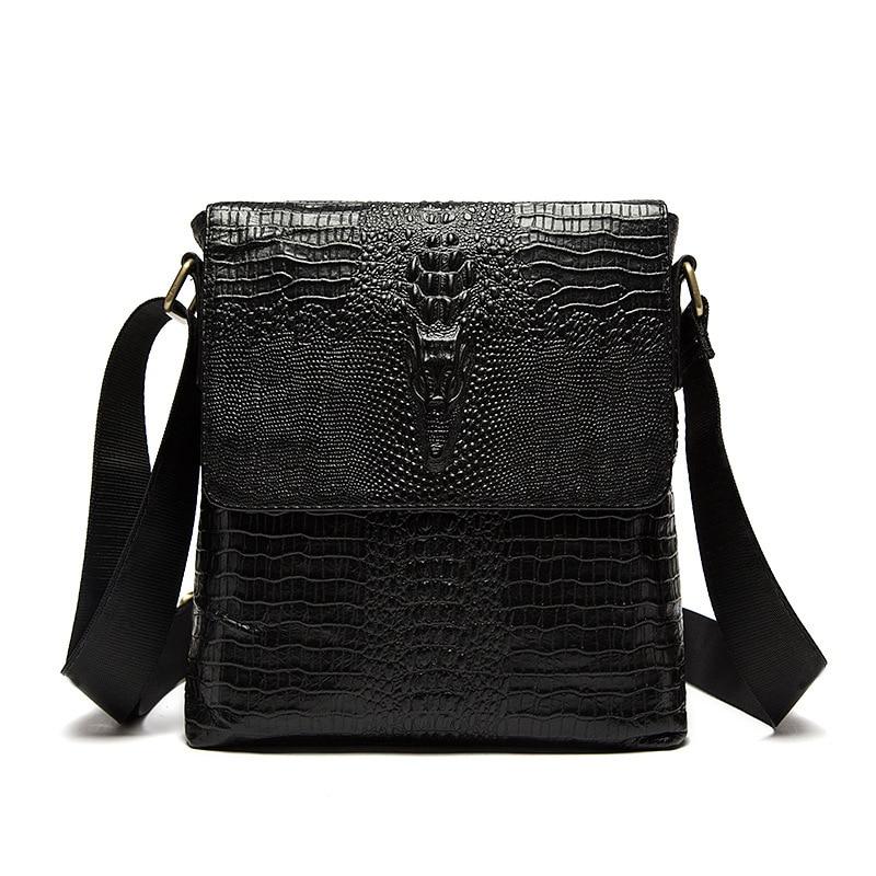 Crocodile Men Briefcase Genuine Leather Business Bag Real Cow Leather Laptop Shoulder Bag Men's Messenger Crossbody Travel Bags