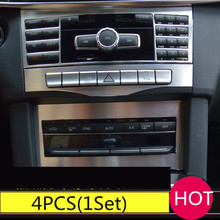 For Mercedes-Benz E Class W212 Inner Middle Console Adjust Button Cover Trim 2014-2015 A Set Of 4pcs цены онлайн