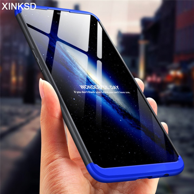 newest 5cacd 08eeb US $2.69 10% OFF|360 Degree Hard PC Phone Cases for Oneplus 5 6 5T Hard  Plastic Full Cover Protection Back Shockproof Case for One Plus 5 6 5T -in  ...