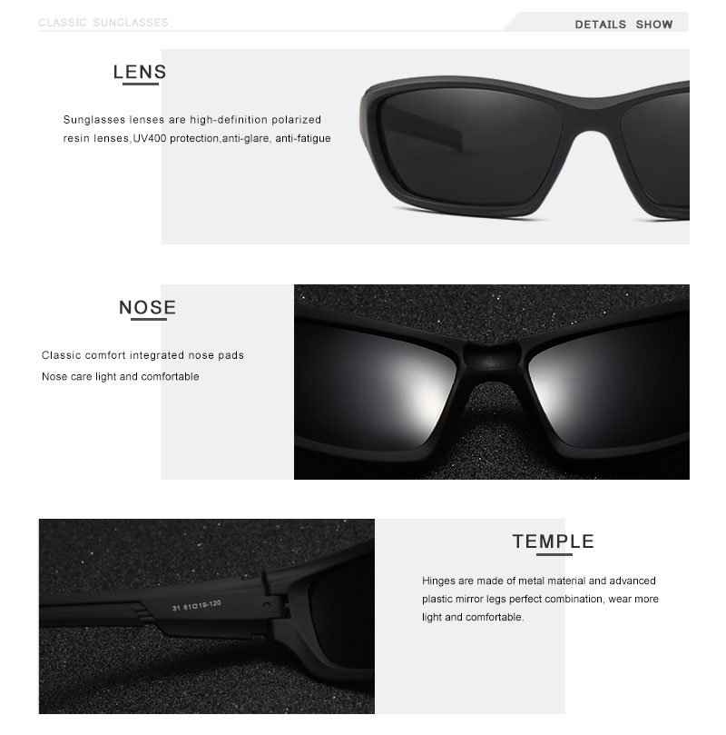 OLEY Fashion Guy's Sun Glasses Polarized Sunglasses Men Classic Design Vintage Mirror Driving  Male Goggles With Brand Box