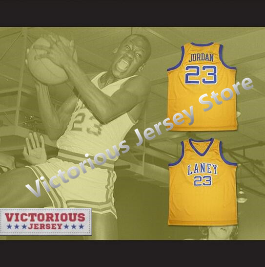 d4913592f06 Minanser Michael Jordan #23 Laney High School Buccaneers Basketball Jersey  Men
