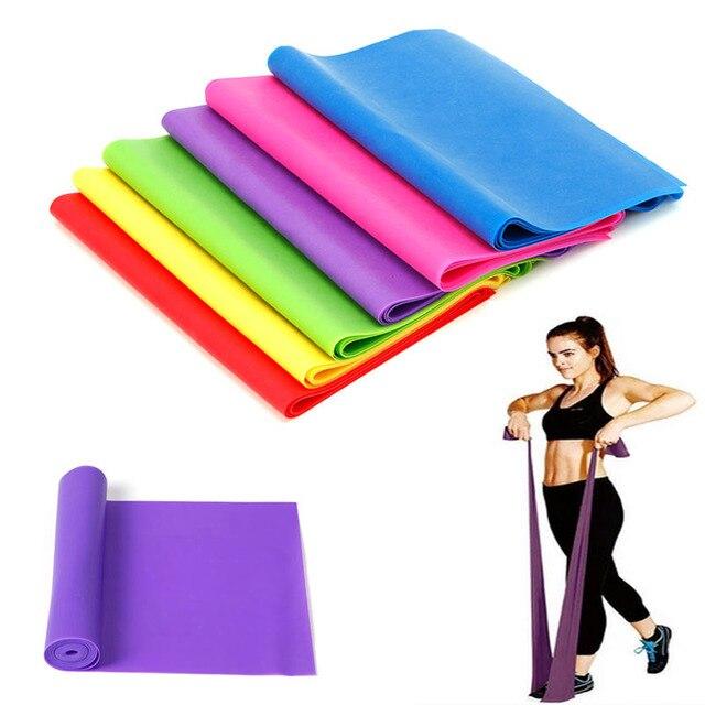1.2 M elastyczna joga Pilates guma Stretch taśma do ćwiczeń ramię nogi powrót Fitness