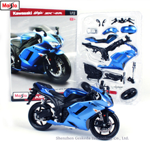 Maisto 1:12 Kawasaki ZX-6R assembled alloy motorcycle model motorcycle model assembled DIY toy tools maisto 1 12 ducati 696 assembled alloy motorcycle model motorcycle model assembled diy toy tools
