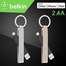 Belkin Оригинал Мфо Сертифицированных 8 pin Молния USB Брелок Кабель 2.4A зарядки/Синхронизации для iPhone 7 6 s Plus SE с Розничным Пакетом