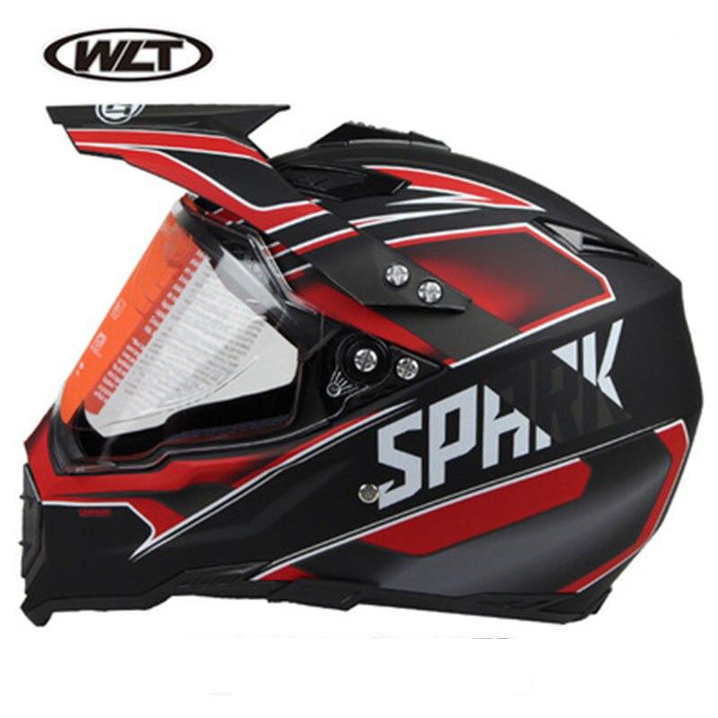 WLT Dirt Bike Motocross casques lunettes de soleil vtt vtt hors route Moto casques hommes intégral Moto casque Anti-UV visière