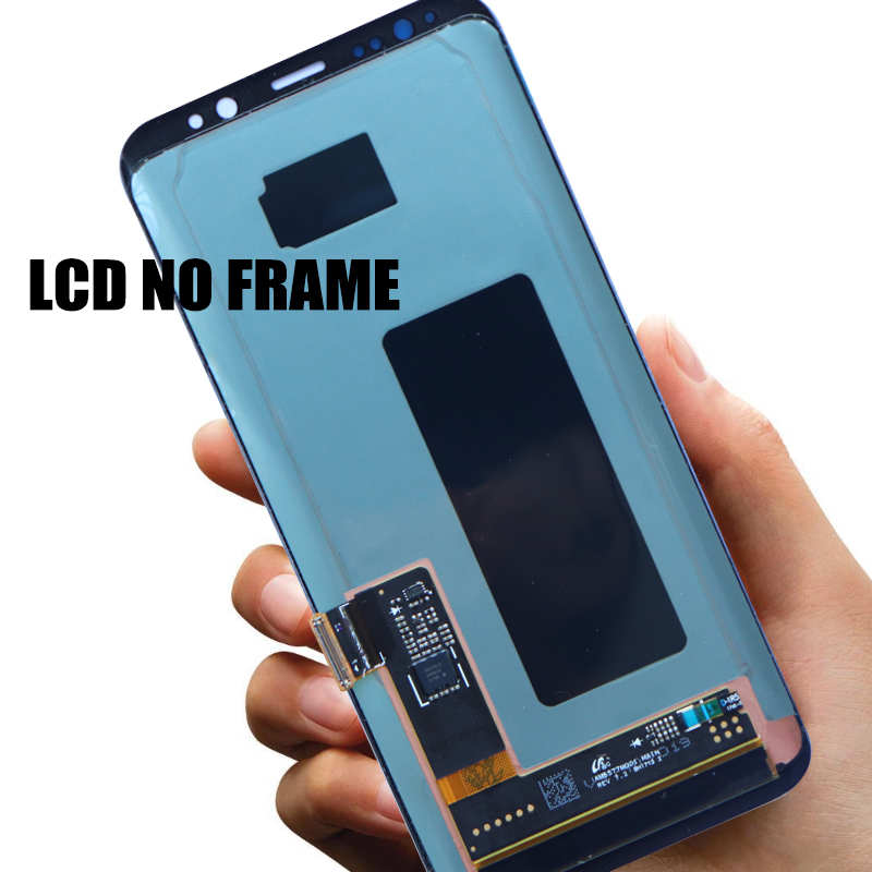 HTB1A0XAXUCF3KVjSZJnq6znHFXaG Original Burn-Shadow Replacment For Samsung Galaxy S8 G950F G950U LCD S8 Plus G955 G955F Display Screen Touch Digitizer Assembly