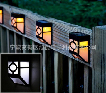 Garden Decoration Lighting Fence Lights Solar Led Corridor Wall Light Panel 2colors 4pieces