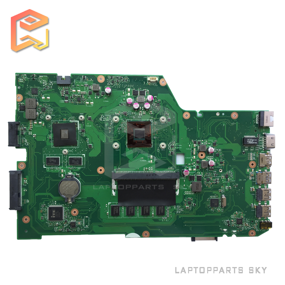 Original new For ASUS X751MD rev2.0 laptop motherboard with N3530 CPU onboard N15V-GM-S-A2 graphics card mainboard fully Tested new n56jr laptop motherboard for asus with i7 cpu with high quality