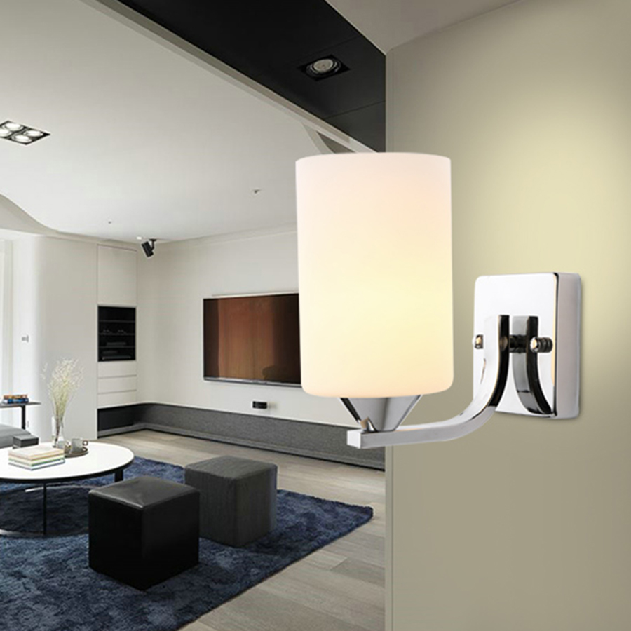 Classic Glasses Lampshade Modern Wall Lights For Bedroom Living Room ...