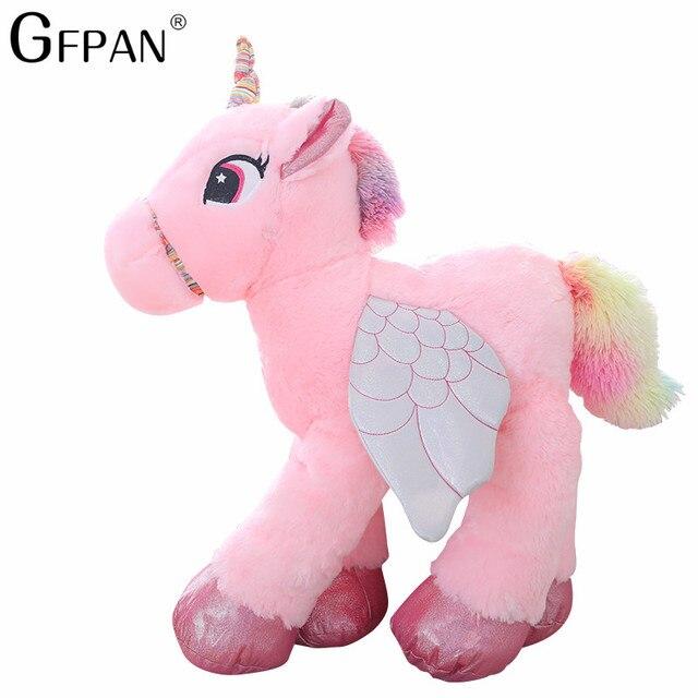 1pc 50 60cm Kawaii Unicorn Plush Toys Giant Stuffed Animal Horse