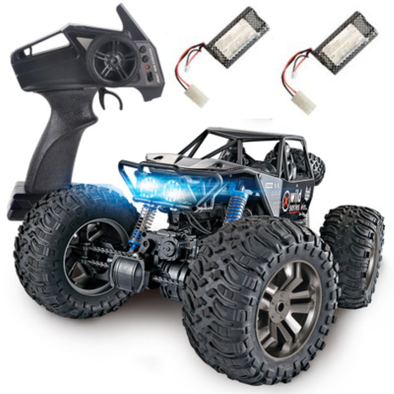 1:8 large 2.4G 4WD 48CM large size remote cotrol rock climber car toy with 2 rechargeable battery Spring damping RC Car gift toy1:8 large 2.4G 4WD 48CM large size remote cotrol rock climber car toy with 2 rechargeable battery Spring damping RC Car gift toy