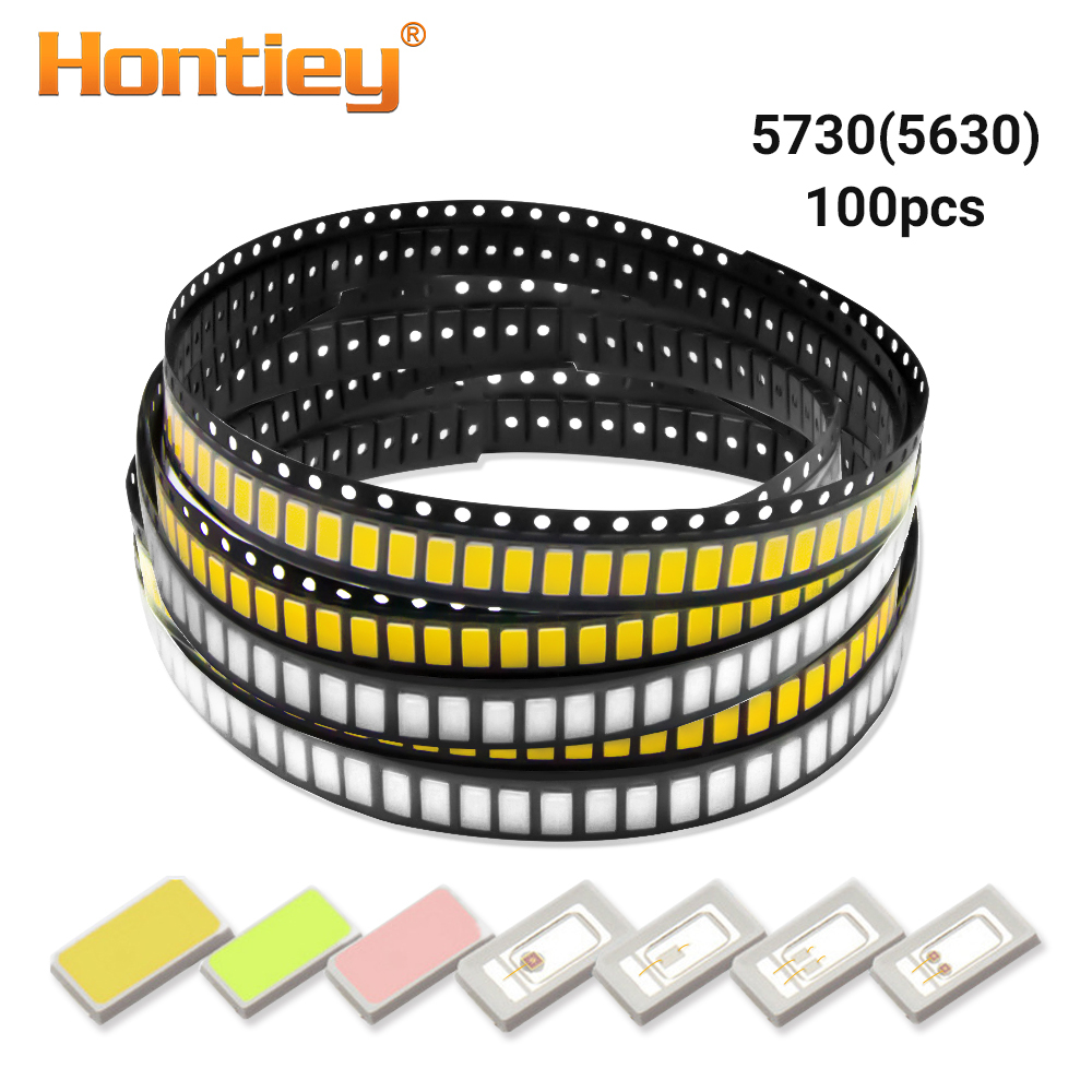 Hontiey Smd 5730 / 5630 Chip Leds Warm White Blue Red Green Yellow Light Diode Beads For Led Strip Spotlight Bulb Diode Lamp Diy