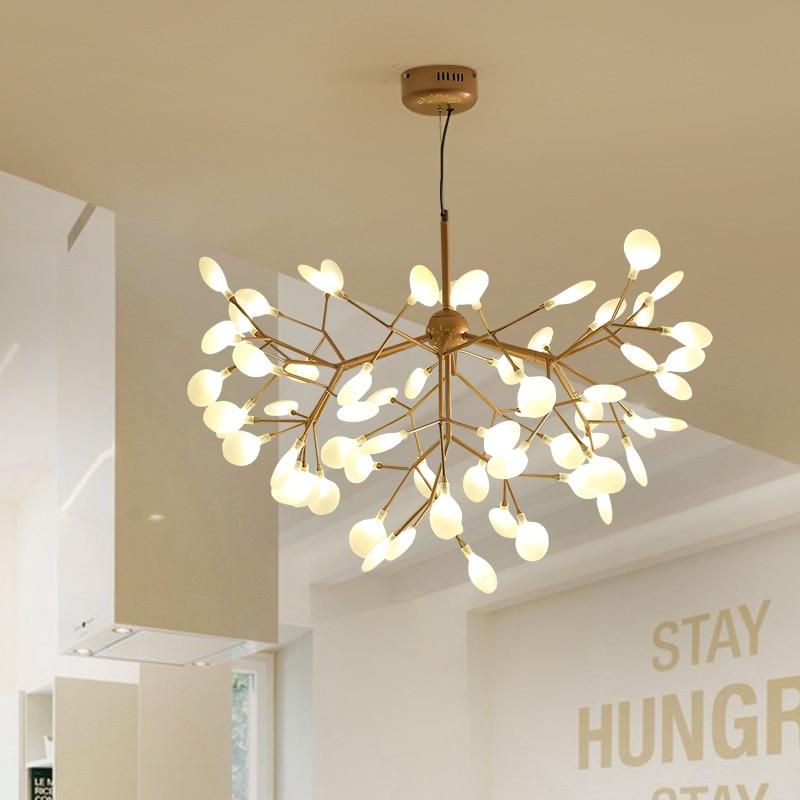 Hanging Light Fixtures Living Room Texas Themed Modern Led Chandelier Suspended Lighting Loft Home Deco Restaurant Lights Bedroom Pendant Lamps