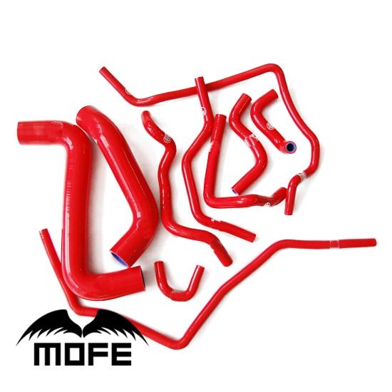 Original Logo 11PCS Silicone Coolant Radiator Hose Kit For Subar Impreza GDB 2.0 02-07 Red