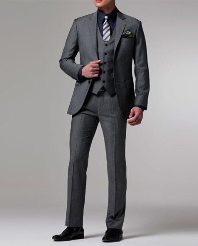 New Arrivals Custom Made Dark Gray Groom Tuxedo/wedding Suits For Men 3 Pieces Suits ( Jacket+pants+vest+tie)
