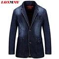 LONMMY Asia tamaño M-3XL Denim jeans chaqueta de los hombres Capa de la chaqueta Ocasional Trajes Delgados para hombres chaqueta de Vaquero traje Marca ropa Nueva
