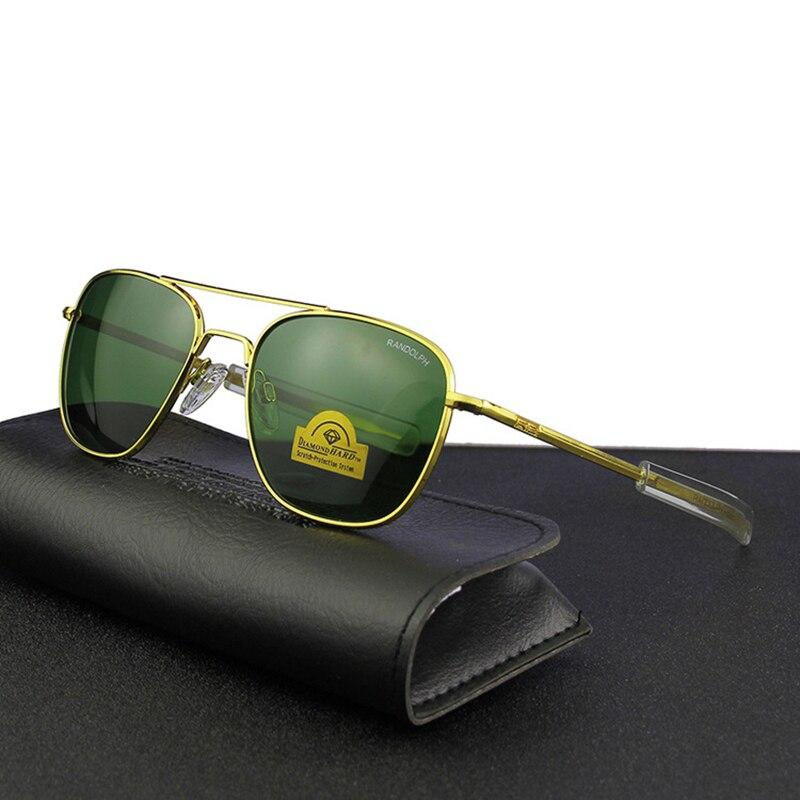 Image 4 - Pilot USA.RE Sunglasses Men Top Quality Brand Designer RANDOLPH AGX Tempered Glass Lens AO Sun Glasses Male YQ1006-in Men's Sunglasses from Apparel Accessories