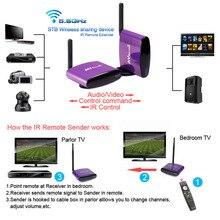 Pat-550 5.8 Г Беспроводной AV RCA аудио видео передатчик приемник Отправитель + ИК-расширен для цифровой android спутниковый кабель ТВ DVD